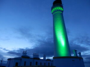 Covesea Lighthouse in Green